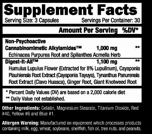 Black hole Supplement Facts