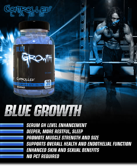Blue Growth HGH Boosting Complex Supplement