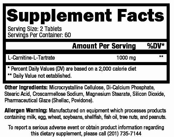 Carnmore-Supplement facts