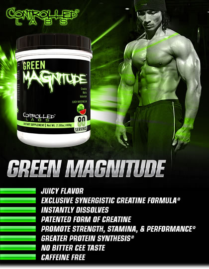 Green Magnitude Creatine Matrix Volumizer Supplement